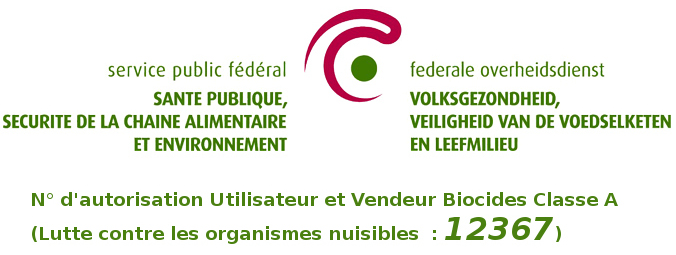Agréation biocides Classe A Utilisateur et Vendeur par le SPF Santé Publique et Environnement